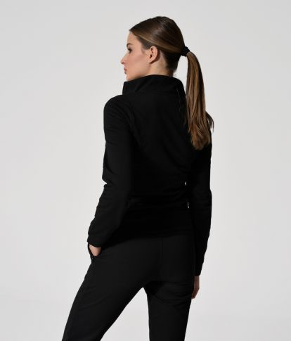 CHIARA JOGGING TOP, BLACK