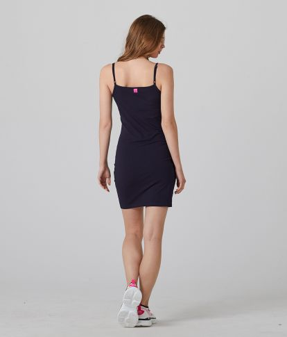 GENEV 20 SHORT DRESS, DARK BLUE