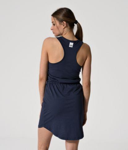 ROSALYN D SHORT DRESS, DARK BLUE