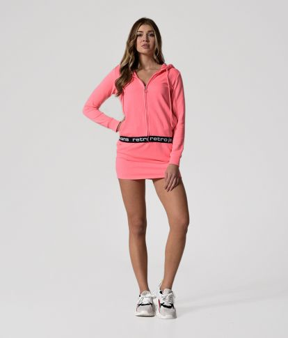 SHELLEY JOGGING TOP, NEON CORAL