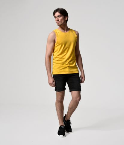 ZENTON TANK TANK TOP, YELLOW