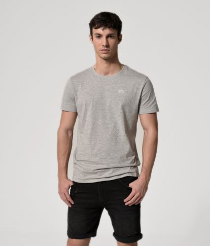 VINCENT T-SHIRT, GREY MELANGE
