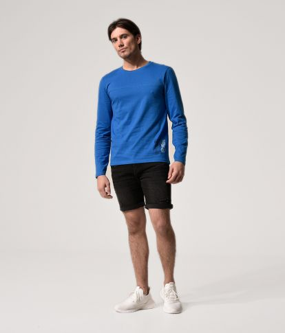 ANDRO LONG L.S.TOP, BLUE