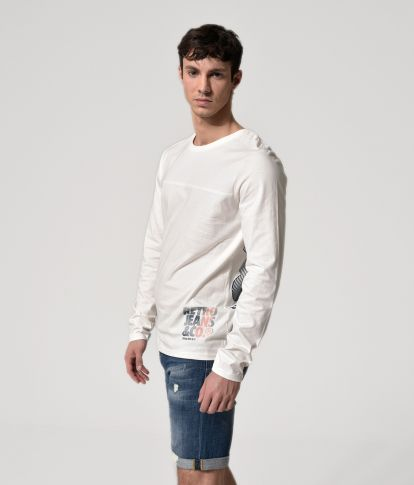 ANDRO LONG L.S.TOP, WHITE