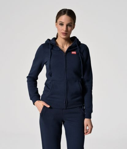 MYA ZIP JOGGING TOP, BLUE