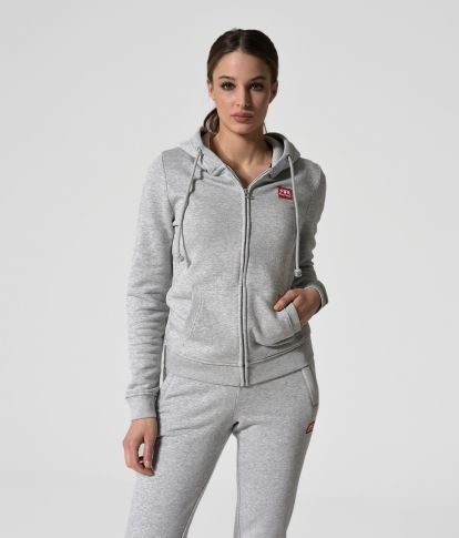 MYA ZIP JOGGING TOP, GREY MELANGE
