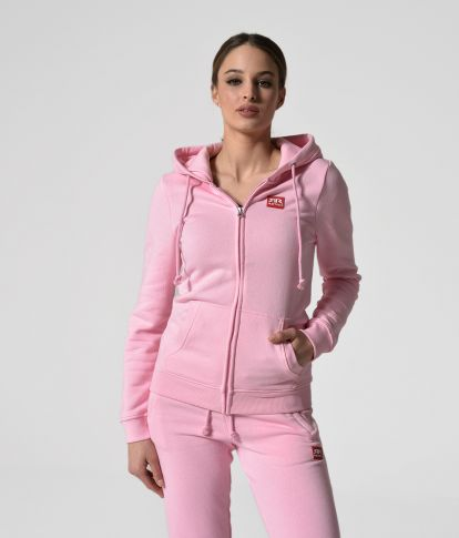 MYA ZIP JOGGING TOP, LIGHT PINK