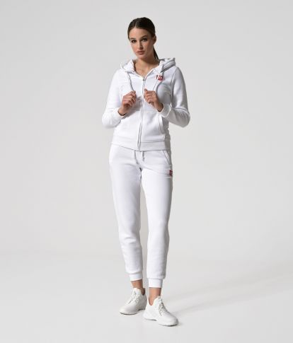 MYA ZIP JOGGING TOP, OFFWHITE