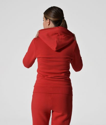 MYA ZIP JOGGING TOP, RED