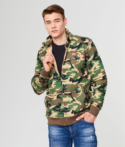 EDON JOGGING TOP, CAMOUFLAGE