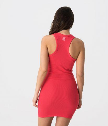 FLOW D 20 DRESS, RED