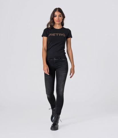 MARIELLA20 T-SHIRT, BLACK