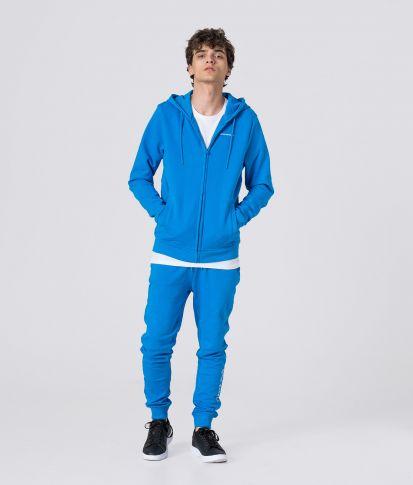 AURELIEN HOODIE JOGGING TOP, BLUE