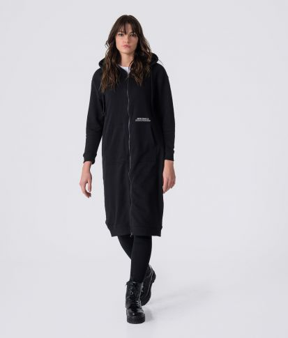 TETTY ZIP DRESS, BLACK