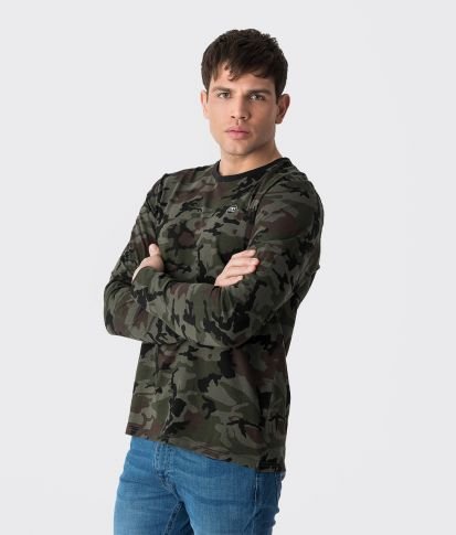 COSTA LONG TEE L.S.TOP, CAMOUFLAGE