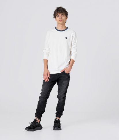 COSTA LONG TEE L.S.TOP, OFFWHITE