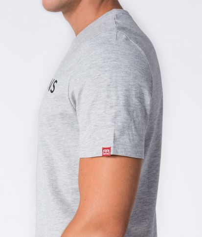 ENOS T-SHIRT, GREY MELANGE