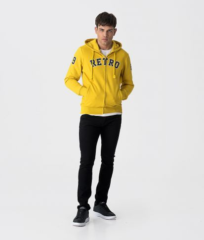 LEO HOODIE JOGGING TOP, YELLOW