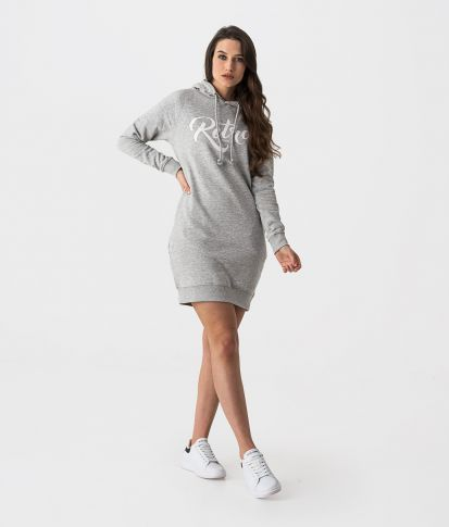 AUDRY DRESS OUT DRESS, GREY MELANGE