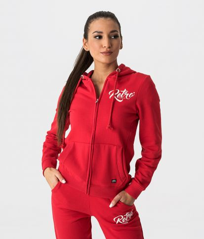 AUDRY ZIP OUT JOGGING TOP, RED