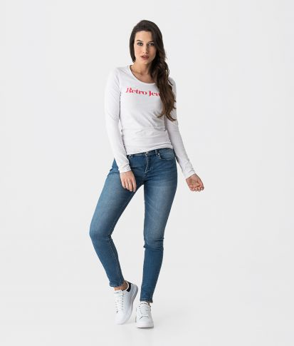 MARLY OUT L.S.TOP, WHITE