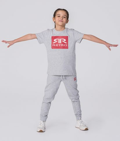 KID T-SHIRT, GREY MELANGE