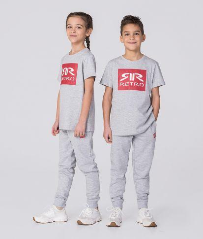 KID T-SHIRT, GREY MELANGE
