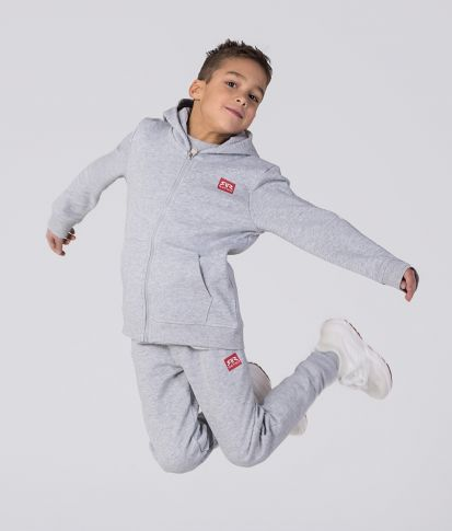 KID ZIPUP, GREY MELANGE