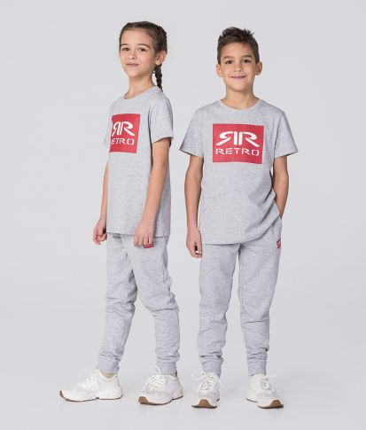 KID JOGGERS, GREY MELANGE