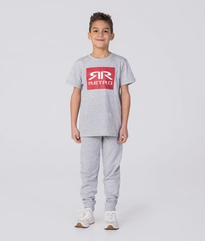 KID JOGGERS, GREY MELANGE