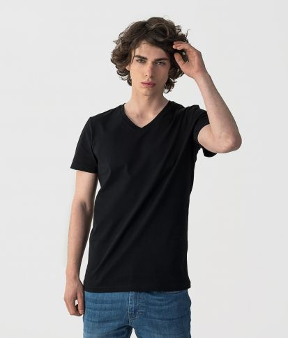 ROYAL V-SHIRT T-SHIRT, BLACK