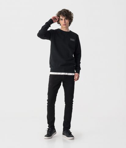 SUPERSONIC SWEATSHIRT JOGGING TOP, BLACK