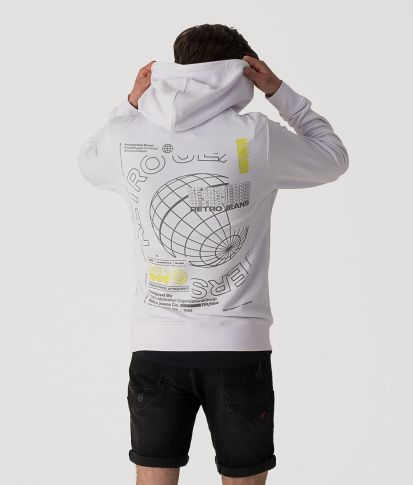 ODYSSEY HOODIE JOGGING TOP, WHITE
