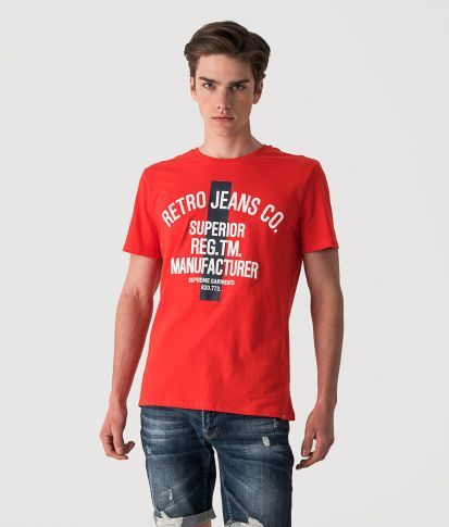 HOUSTON T-SHIRT, RED