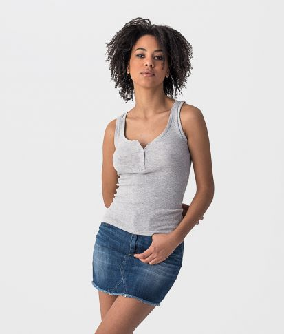 FIFI TANK TOP, GREY MELANGE