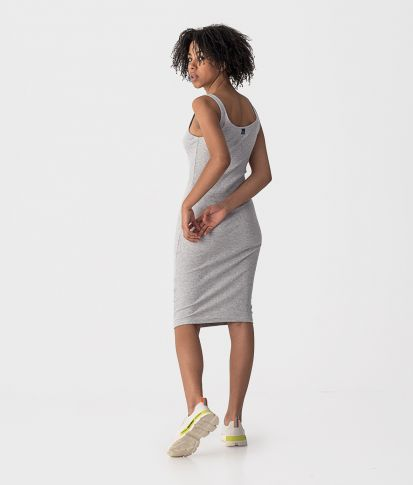 SABINA DRESS, GREY MELANGE