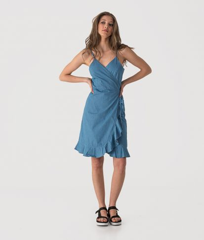 BONITA DRESS, LIGHT DENIM