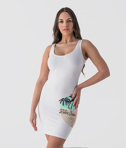 GRANADA A DRESS, WHITE