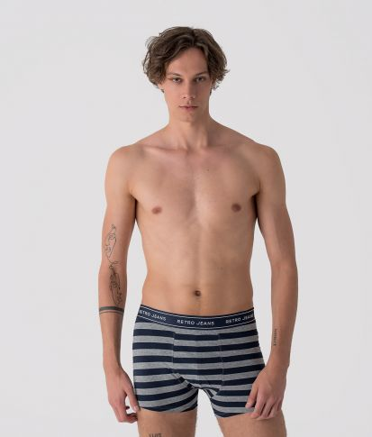 HAROLD STRIPES PACK TWO UNDERWEAR, MIXED