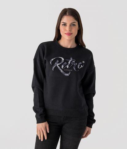 ROSA JOGGING TOP, BLACK