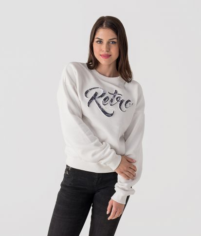 ROSA JOGGING TOP, OFFWHITE