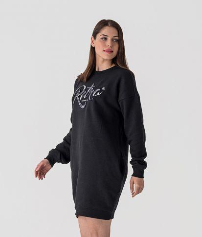 ROSA D DRESS, BLACK