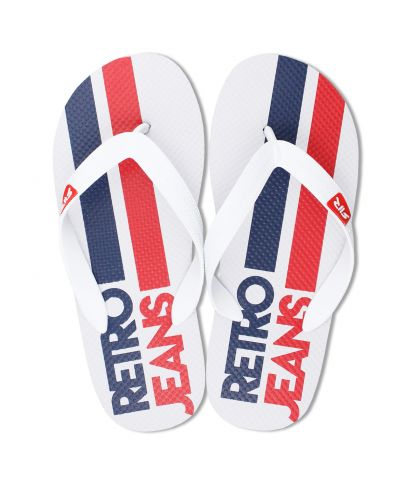 SURFBOARD DESIGN FLIP FLOP, WHITE