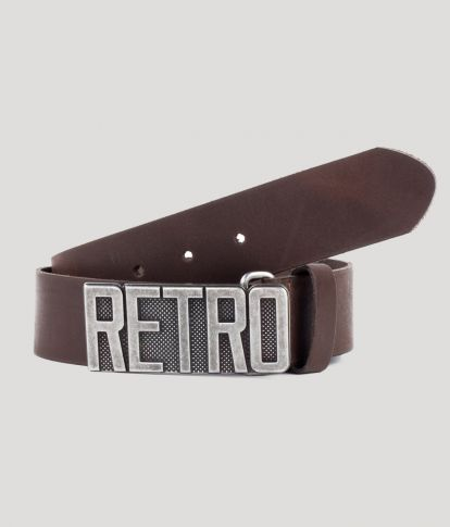 GASTON BELT, DARK BROWN