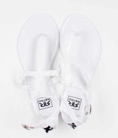SHINNY DOUBLE 18 FLIP-FLOP, WHITE