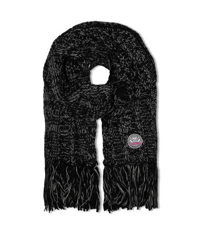 ELVINA SCARF, BLACK