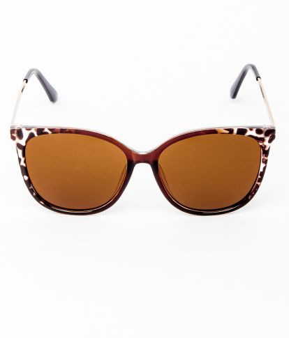 JUSTY SUNGLASSES, BROWN-