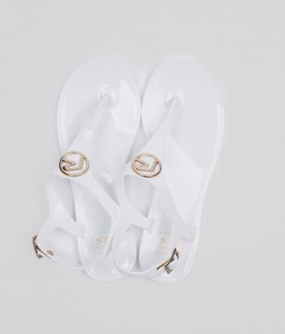LILIESE FLIP-FLOP, WHITE