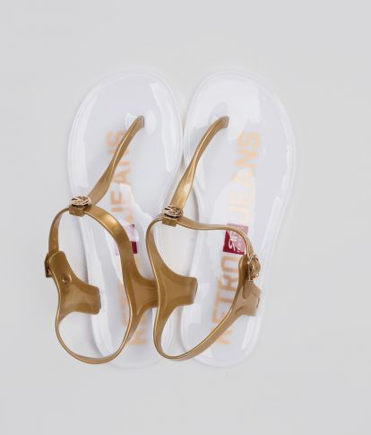 SHINNY COLOR 19 FLIP-FLOP, WHITE