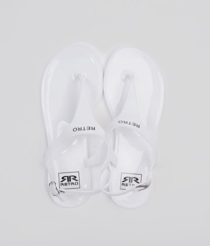 SHINNY PRINT 19 FLIP-FLOP, OFF WHITE